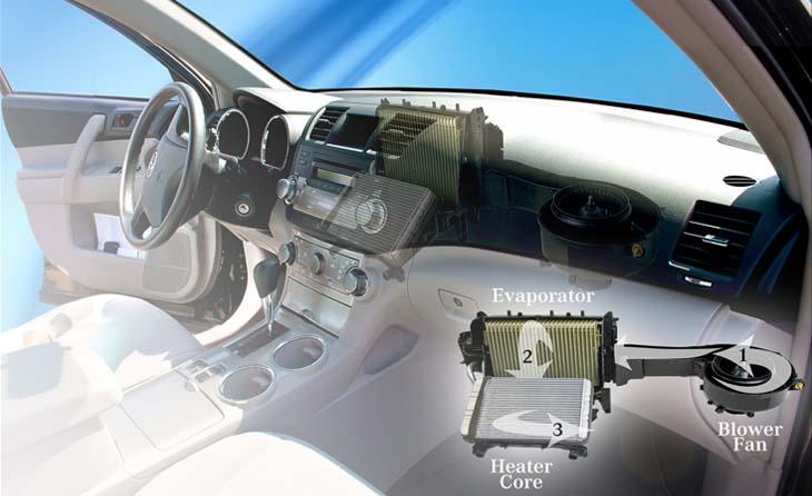 Auto Evaporator Coil Cleaner Metal Conditioner Odor Removal
